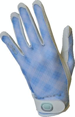 Zoom Sun naisten golfhanska Vichy Light Blue -0