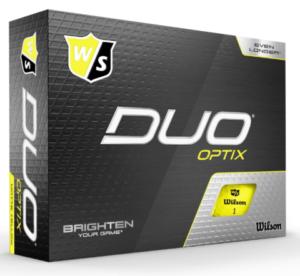 Wilson Staff Duo Optix pallotusina keltainen-0
