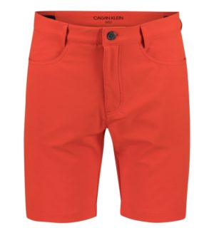 Calvin Klein 4-Way Stretch golfshortsit Fiery Red-0